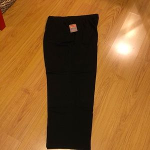Black pull-on pants; 3x; NWT